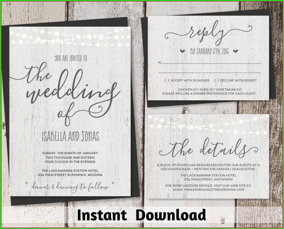 Background Rustic Invitation Template