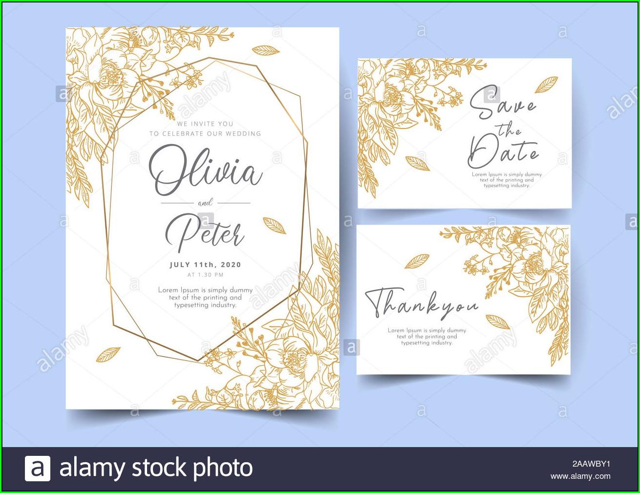 Background Wedding Invitation Card Template