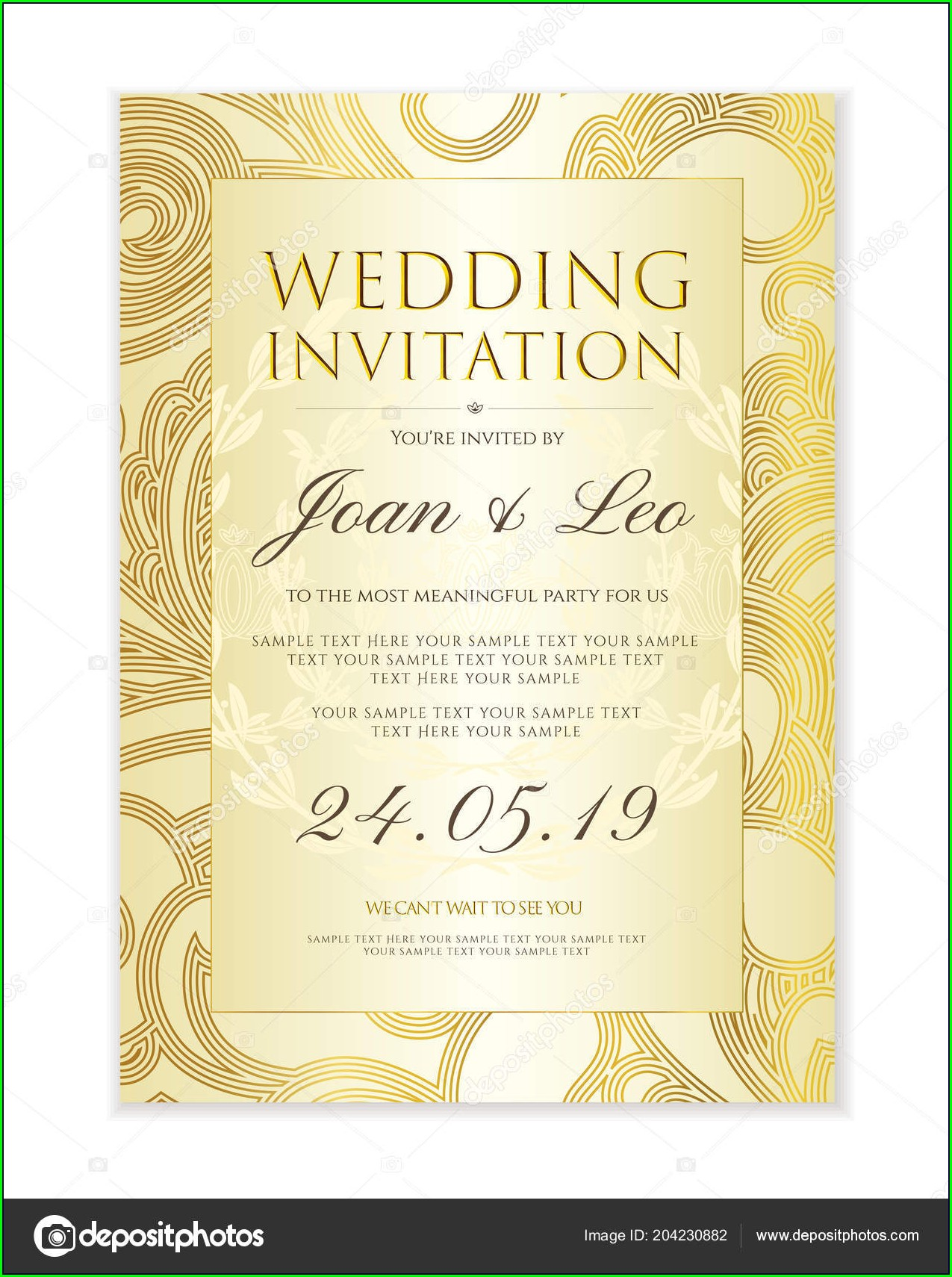Background Wedding Invitation Design Template