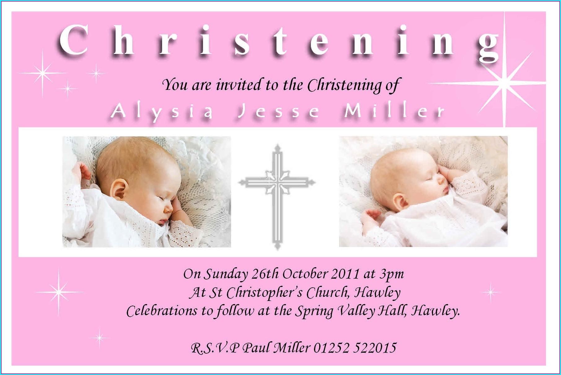 Baptism Invitation Design For Baby Boy