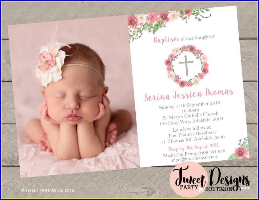 Baptism Invitation Design Ideas