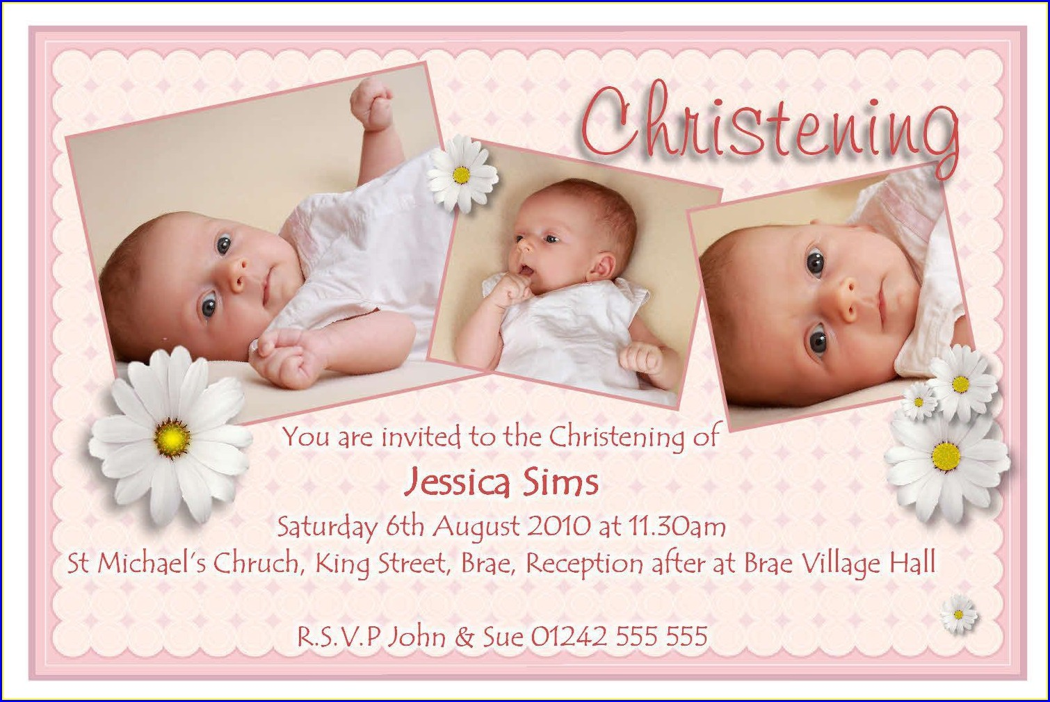 Baptism Invitation Ideas For Baby Girl