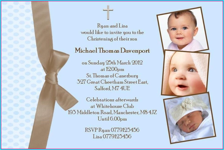 Baptism Invitation Ideas For Boy