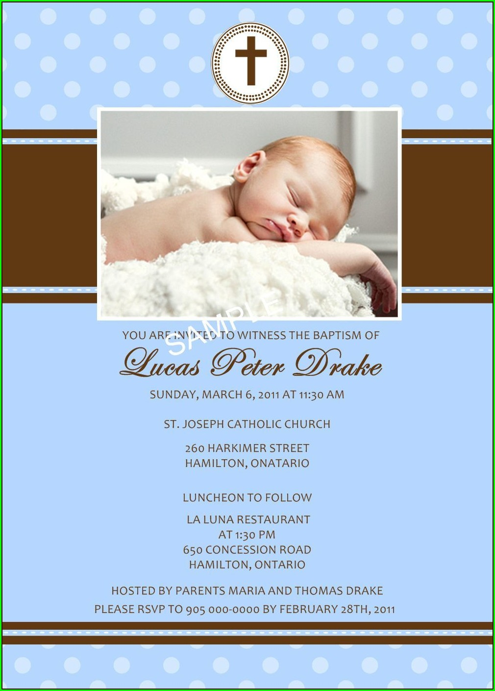 Baptism Invitations For Boy In Spanish