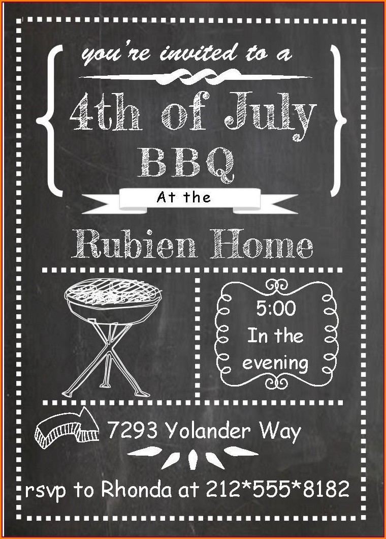 Barbecue Invitation Bbq Invitation Wording