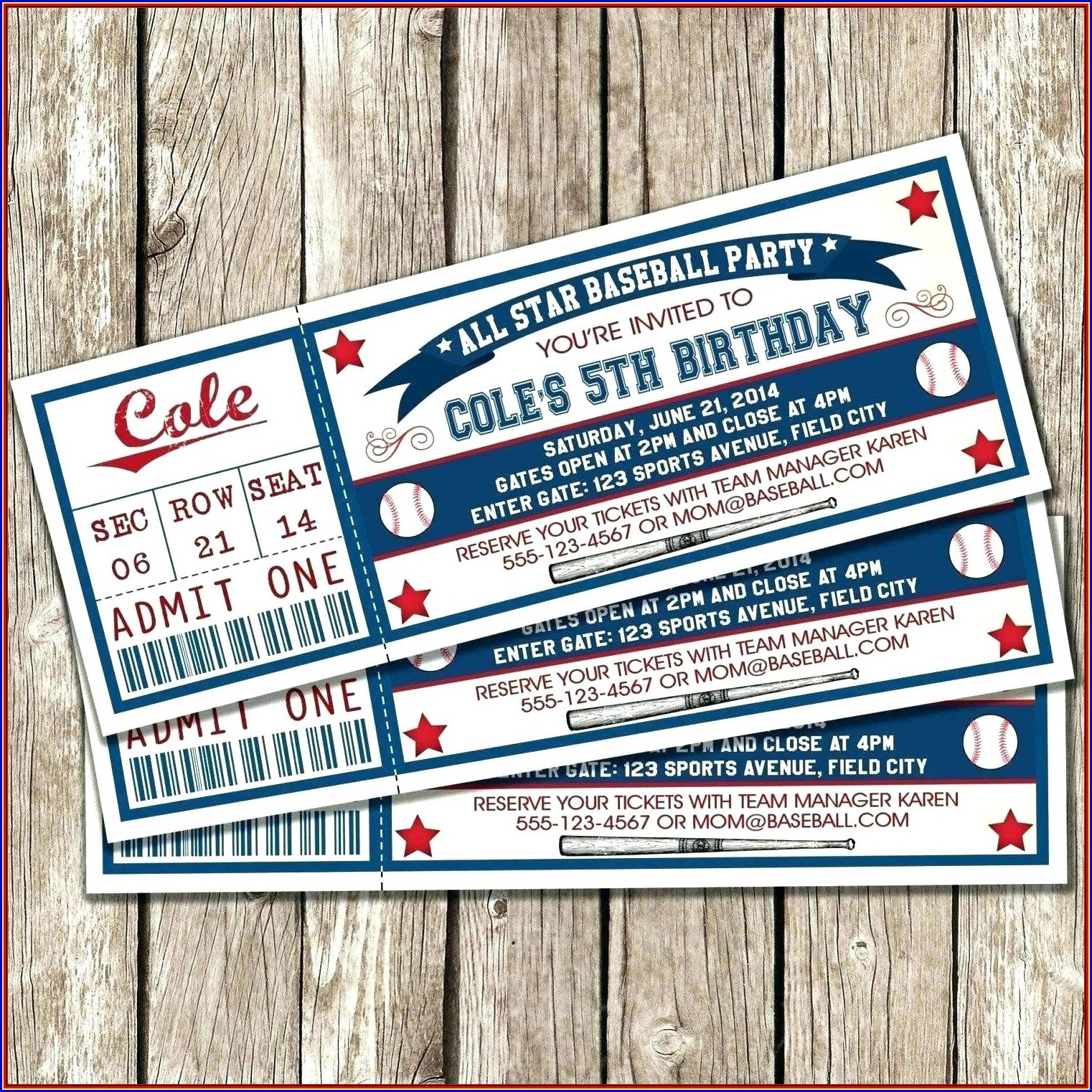 Baseball Invitation Template Free Download