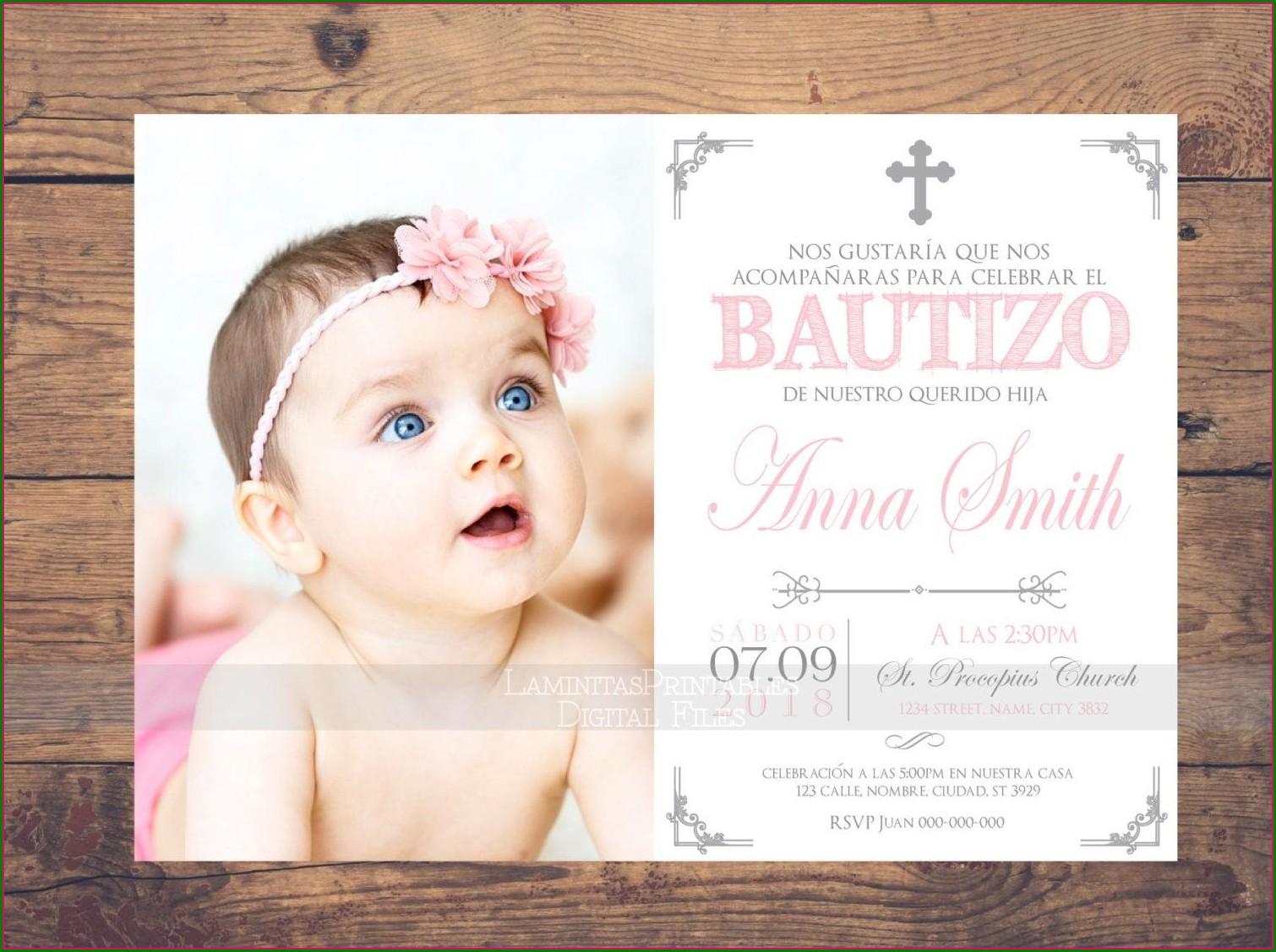 Bautizo Invitations In Spanish