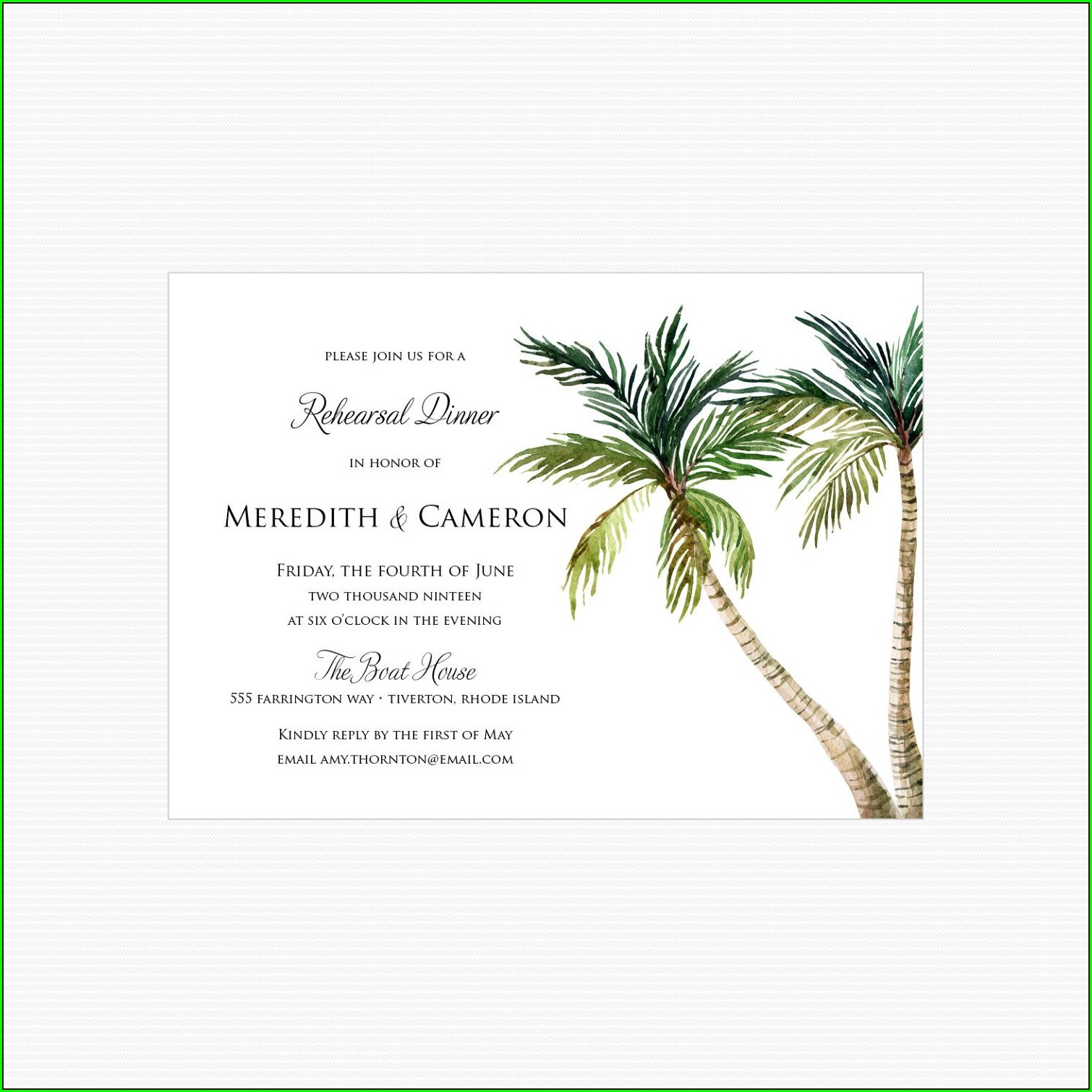 Beach Rehearsal Dinner Invitations