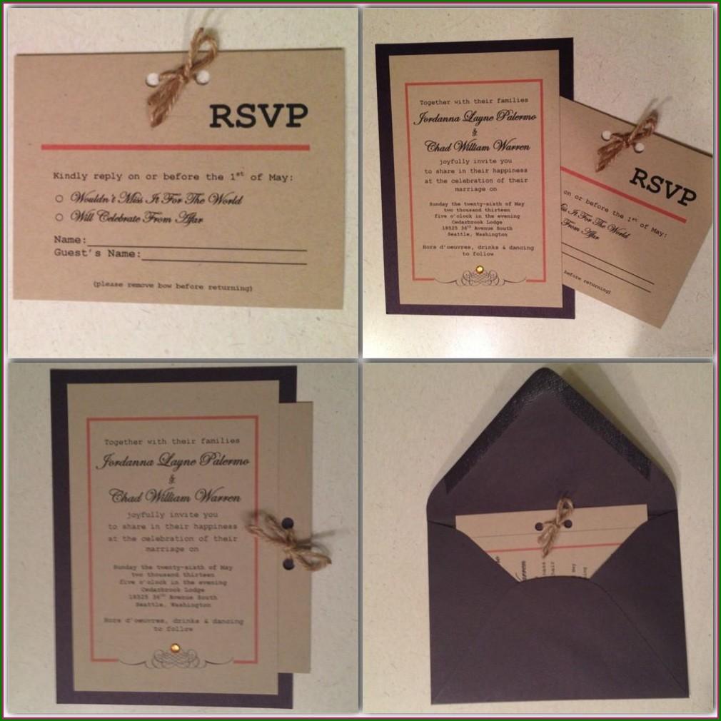 Beach Wedding Invitations And Rsvp Cards