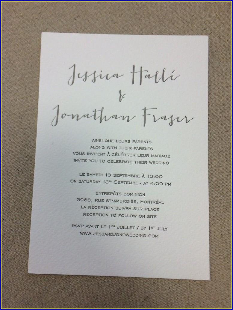 Bilingual Wedding Invitations Spanish English