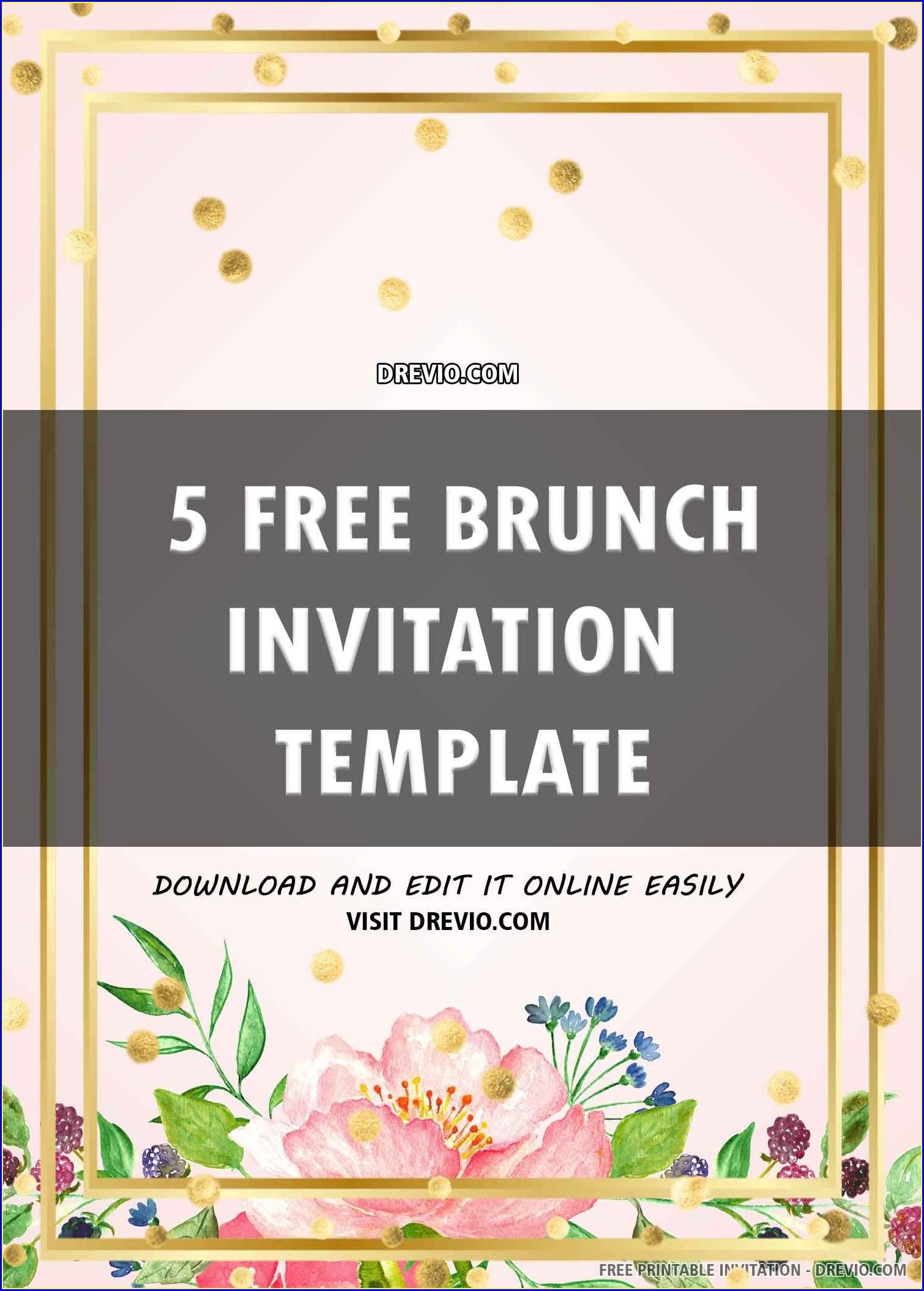 Birthday Brunch Invitation Template
