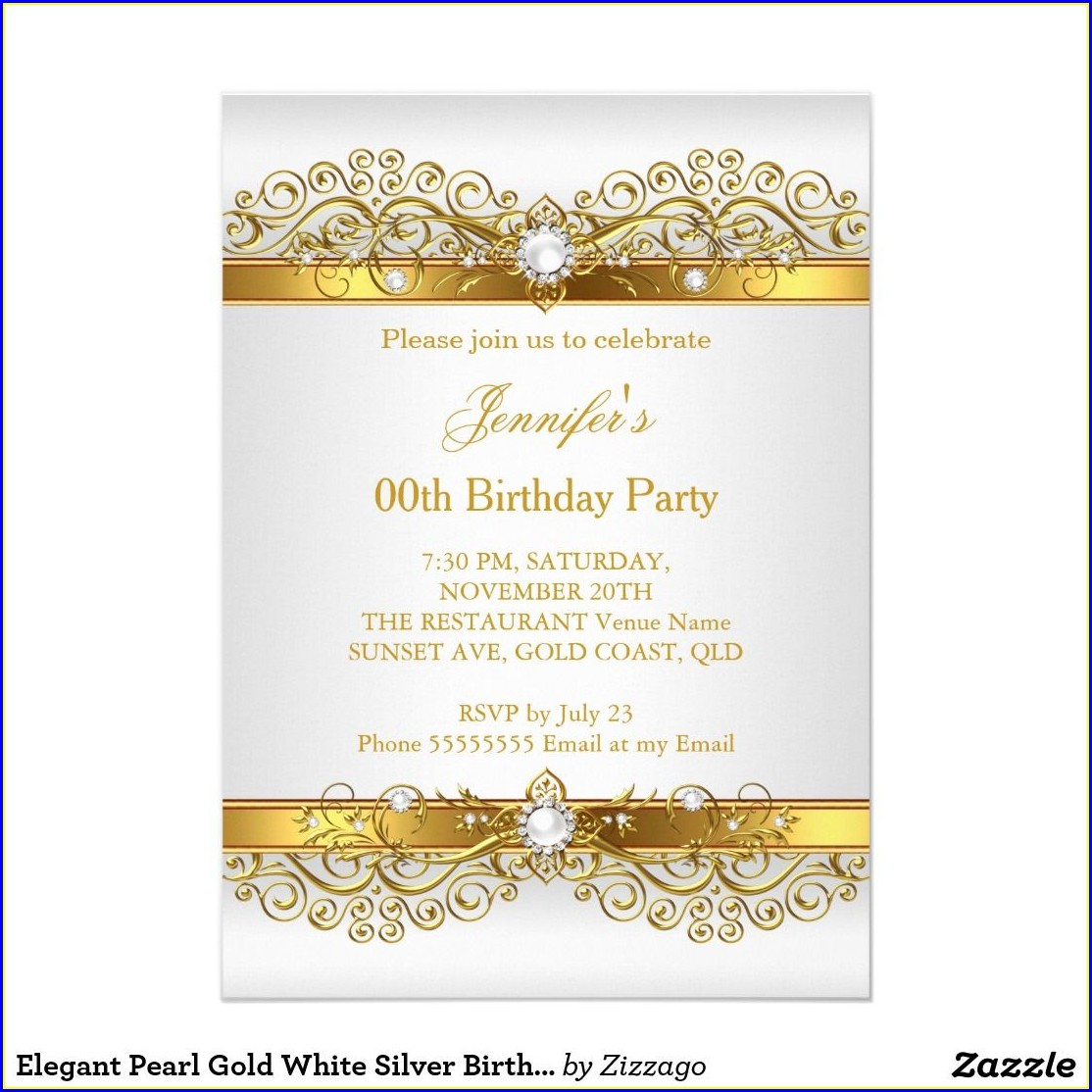 Birthday Celebration Elegant Birthday Invitation Background
