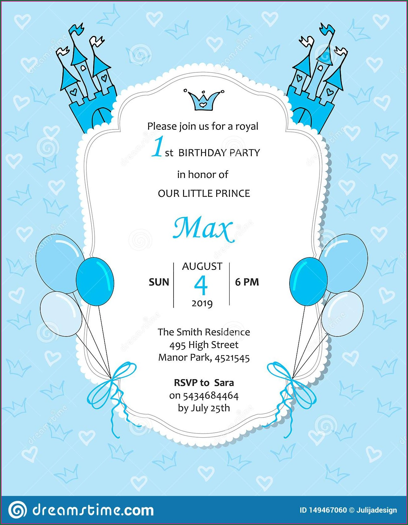 Birthday Invitation Background For Boys