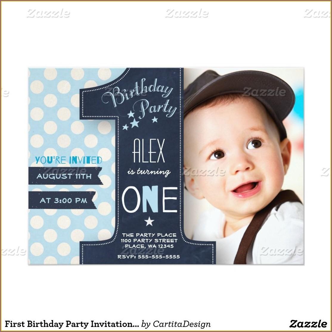Birthday Invitation Card Ideas For Baby Boy
