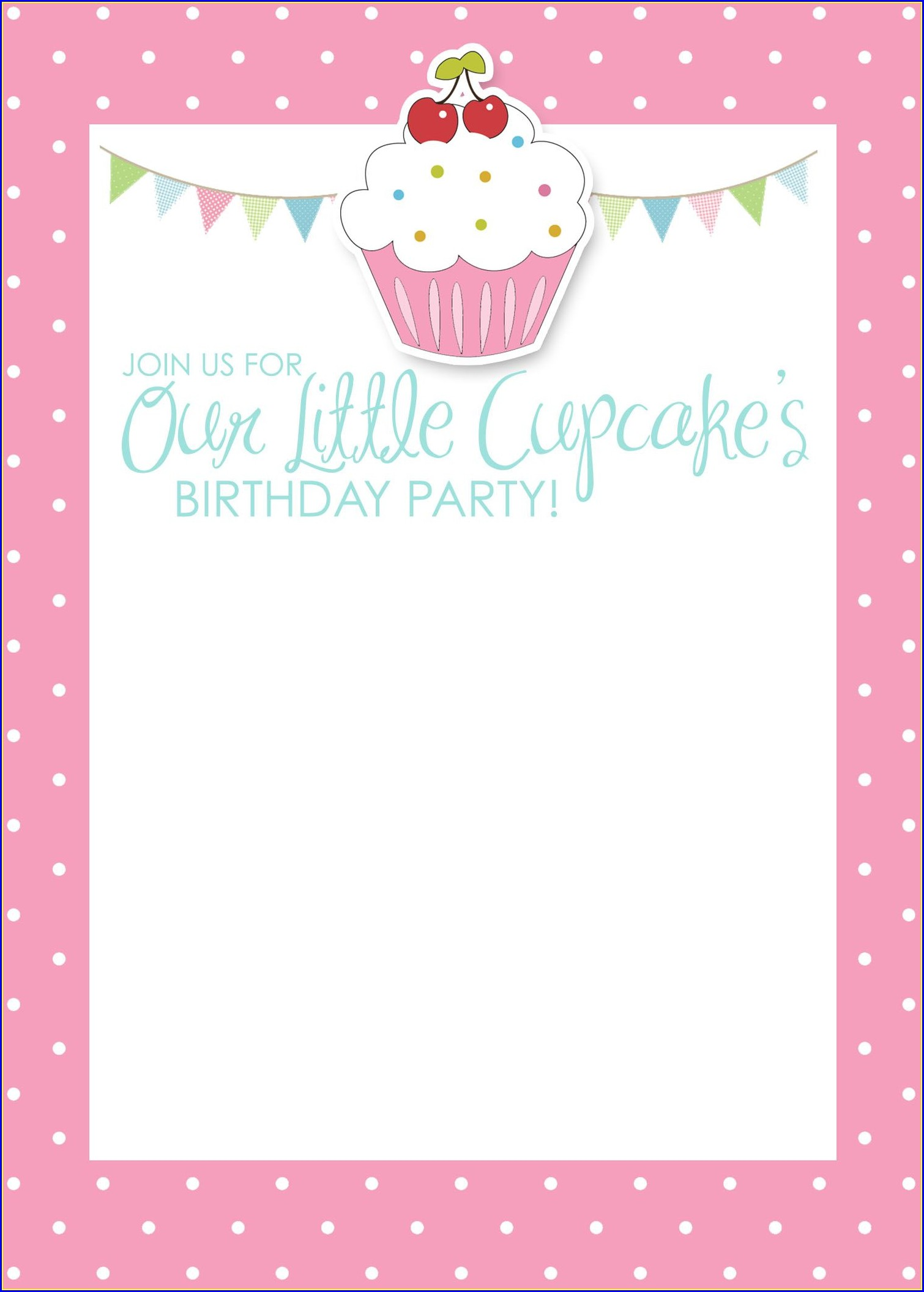 Birthday Invitation Card Template Free