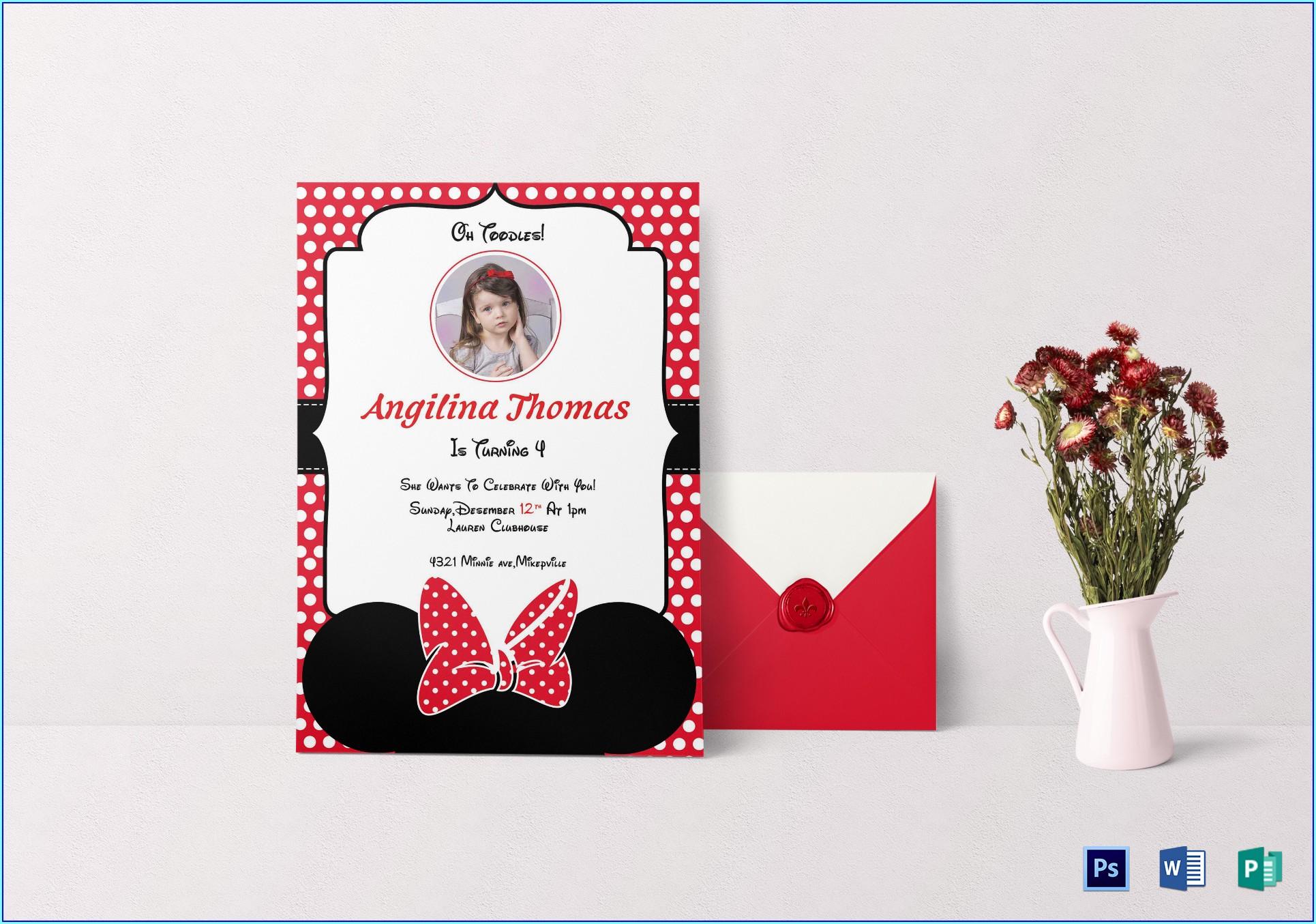 Birthday Invitation Card Template Word