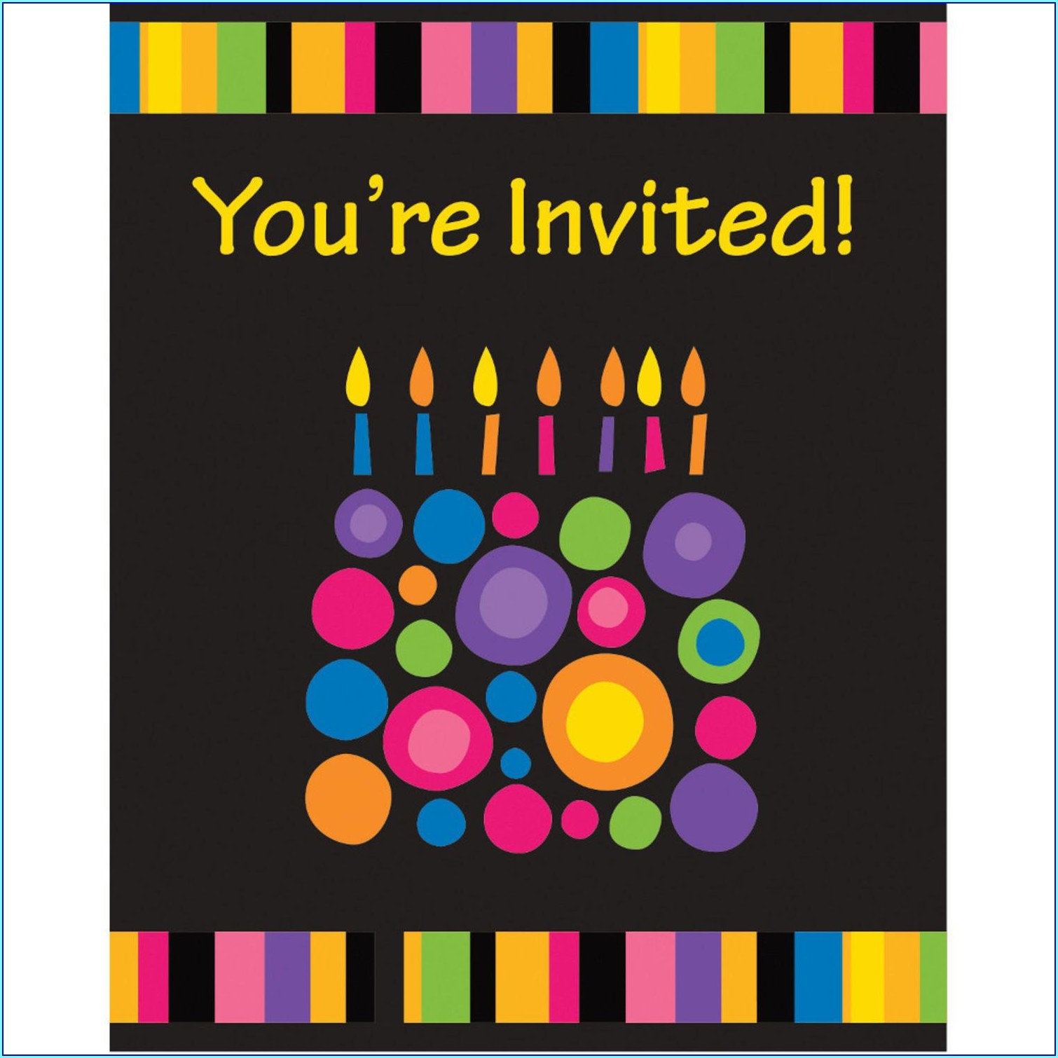 Birthday Invitation Cards Walmart
