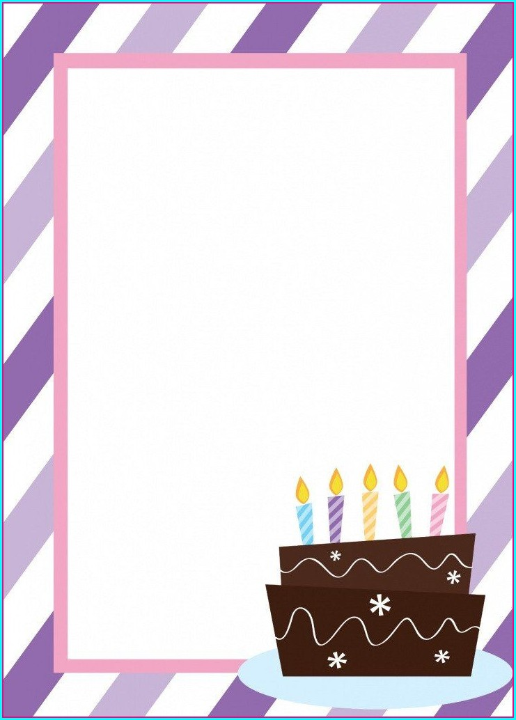 Birthday Invitation Templates Blank