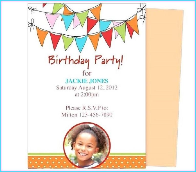 Birthday Invitation Templates For Kids