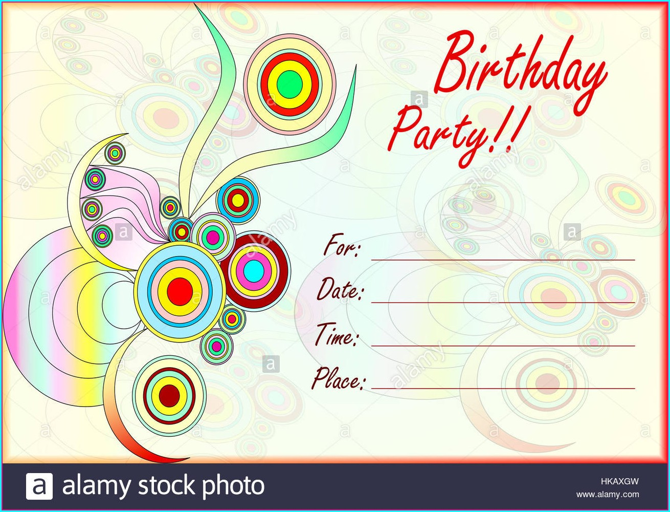 Birthday Invitation Text For Kids