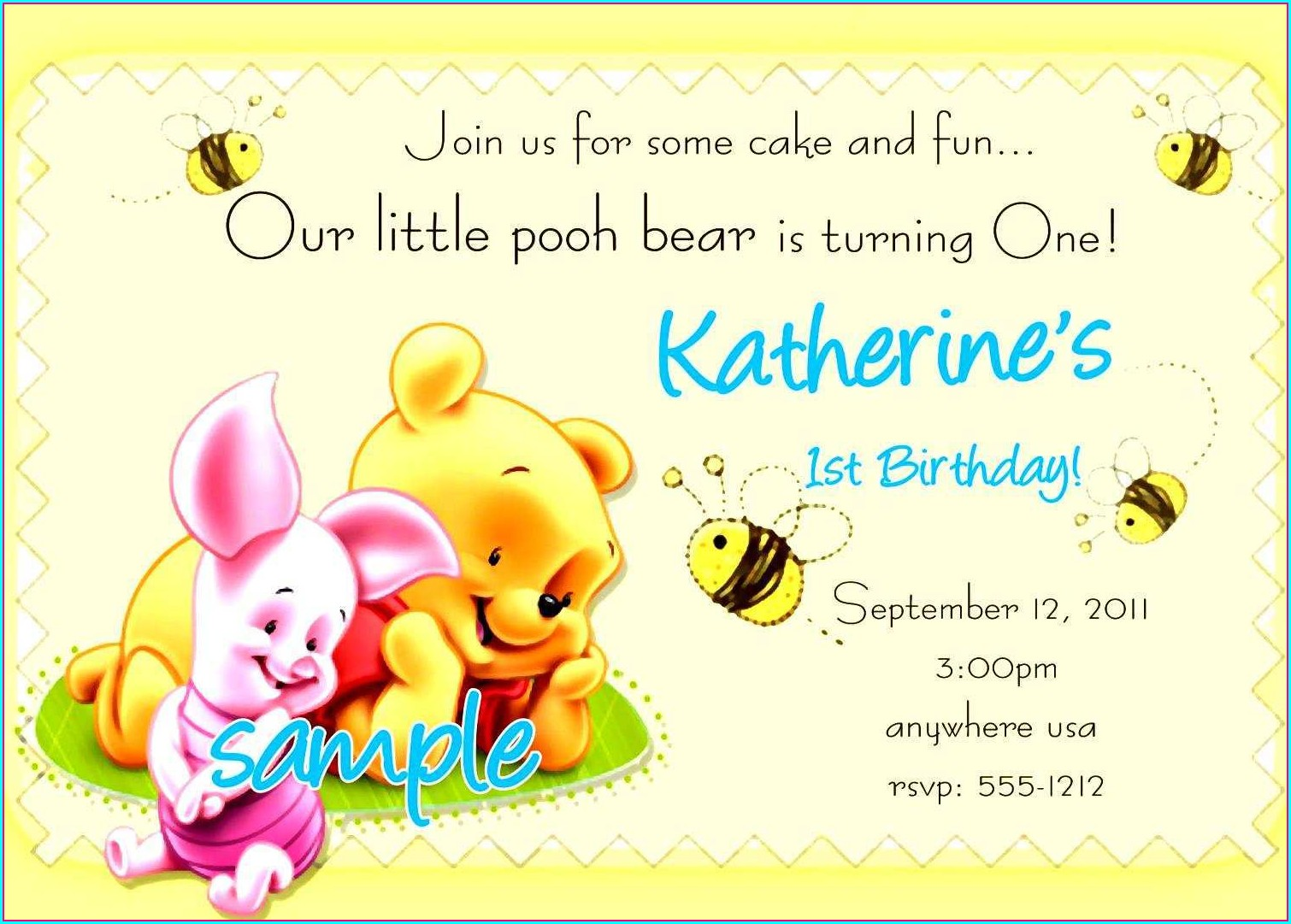 Birthday Invitation Text Sample