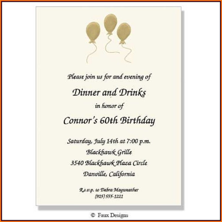 Birthday Invitation Wording For Adults