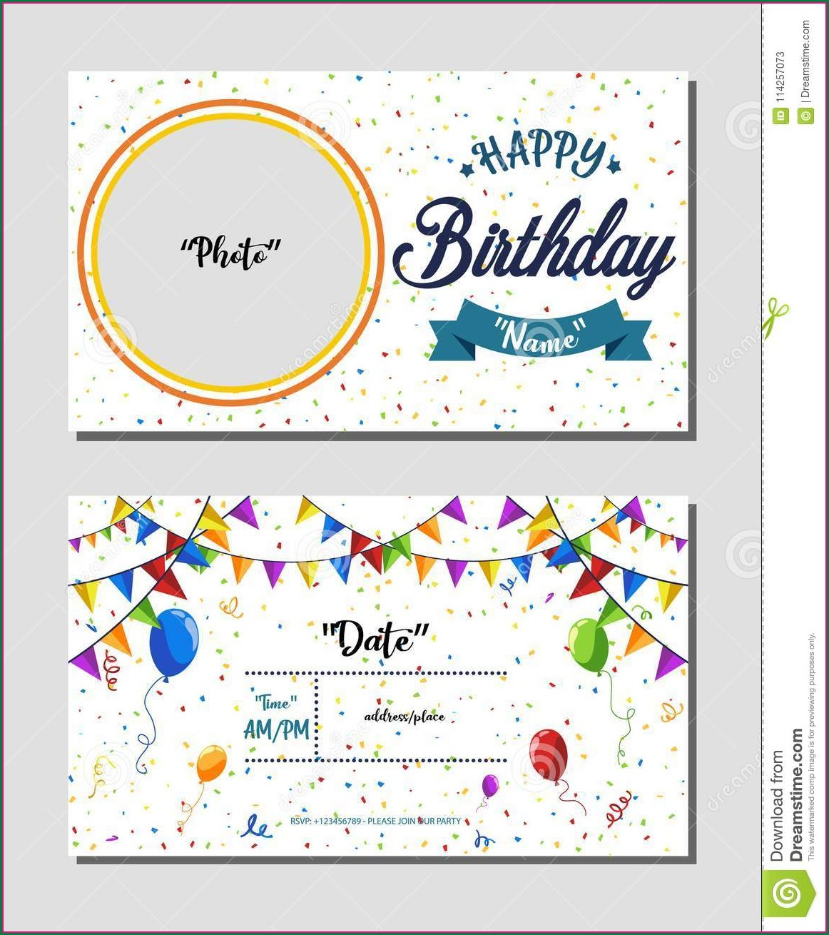 Birthday Template Invitation Background