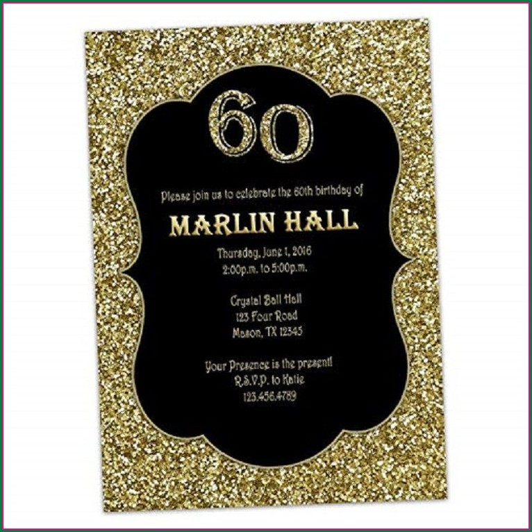 Black And Gold 30th Birthday Invitations