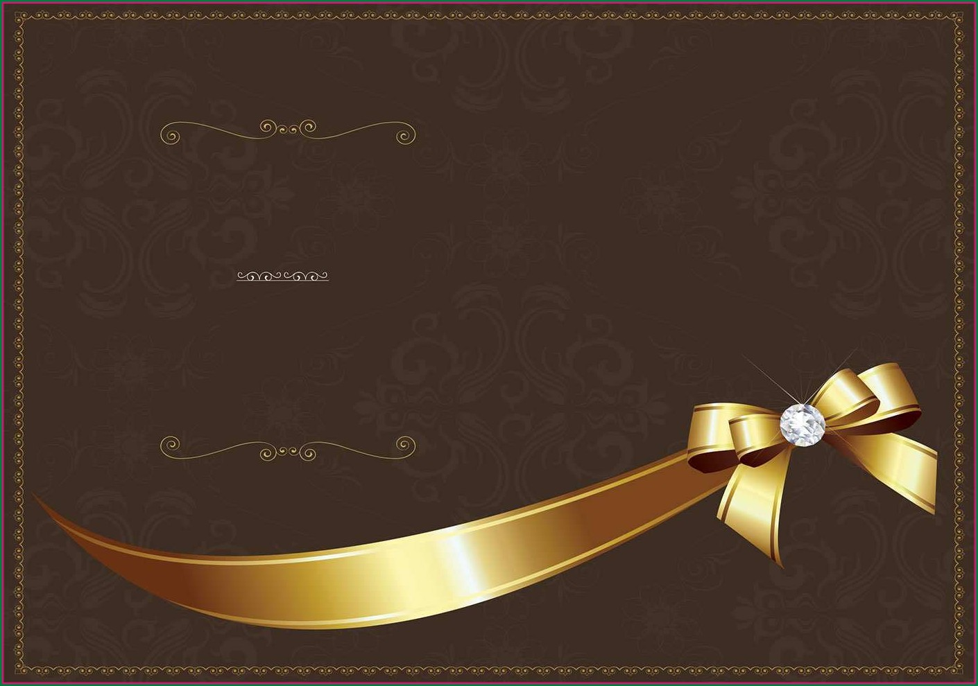 Black And Gold Invitation Template Blank