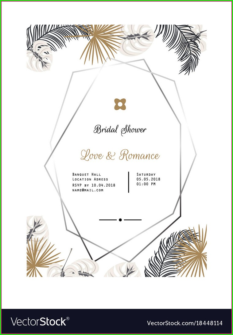Black And Rose Gold Invitation Template