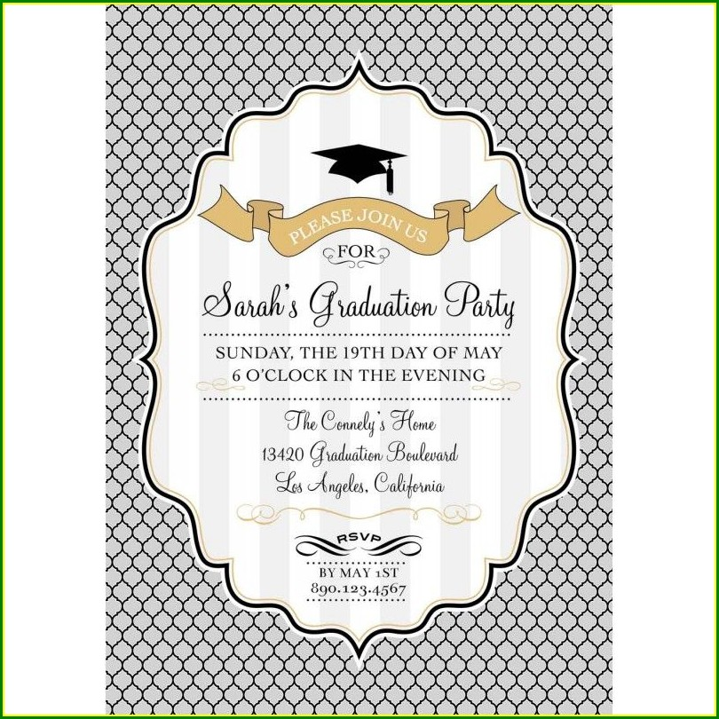 Black And Silver Birthday Invitations Templates