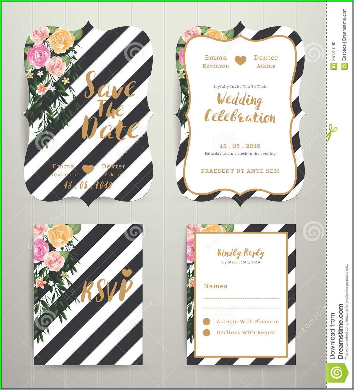 Black And White Wedding Invitation Background
