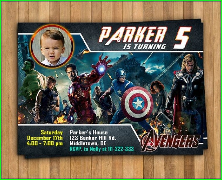 Blank Avengers Birthday Invitations