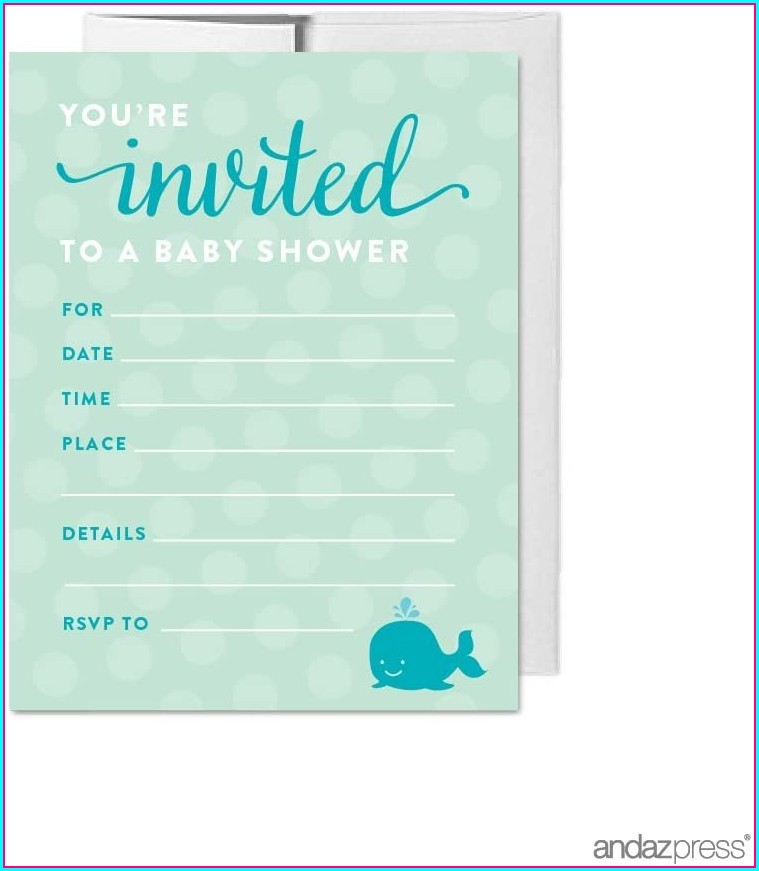 Blank Baby Shower Invitations Boy