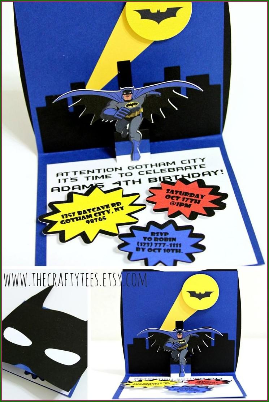 Blank Batman Invitation Card