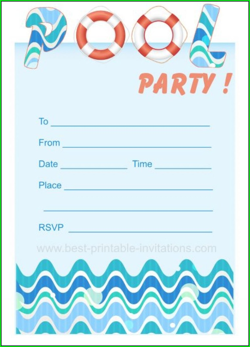 Blank Birthday Dinner Invitation Template