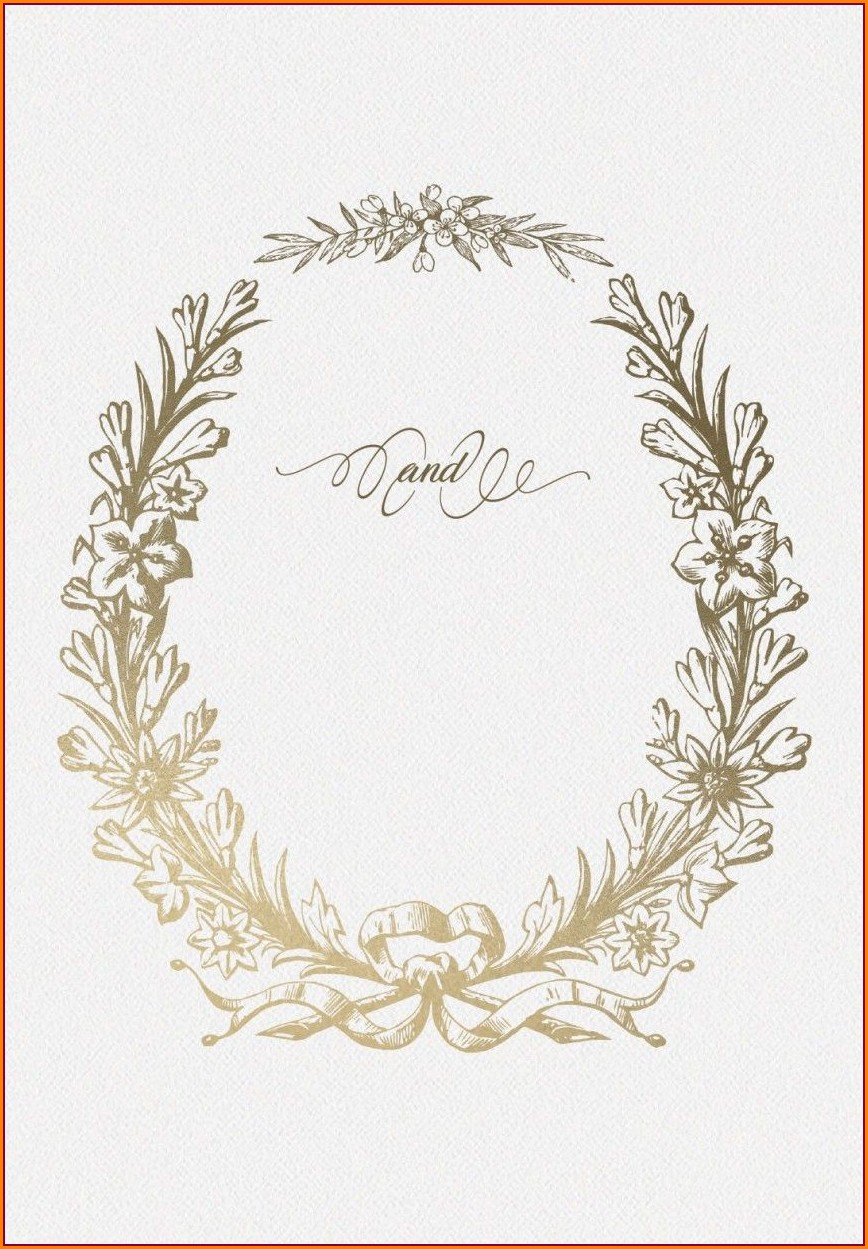Blank Blue Wedding Invitation Templates