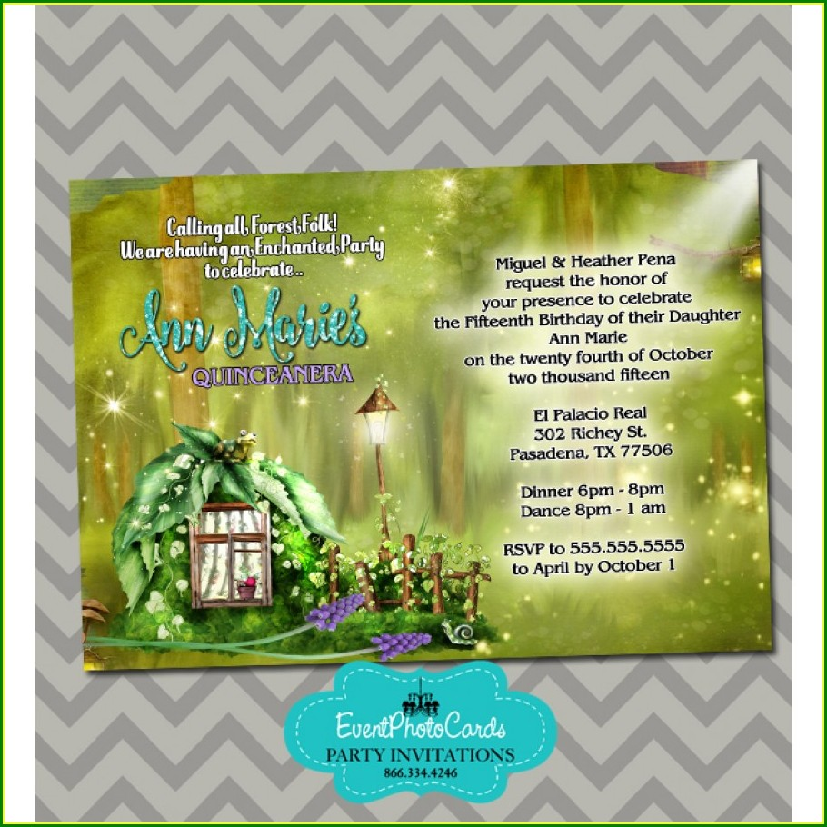Blank Enchanted Forest Invitation Template