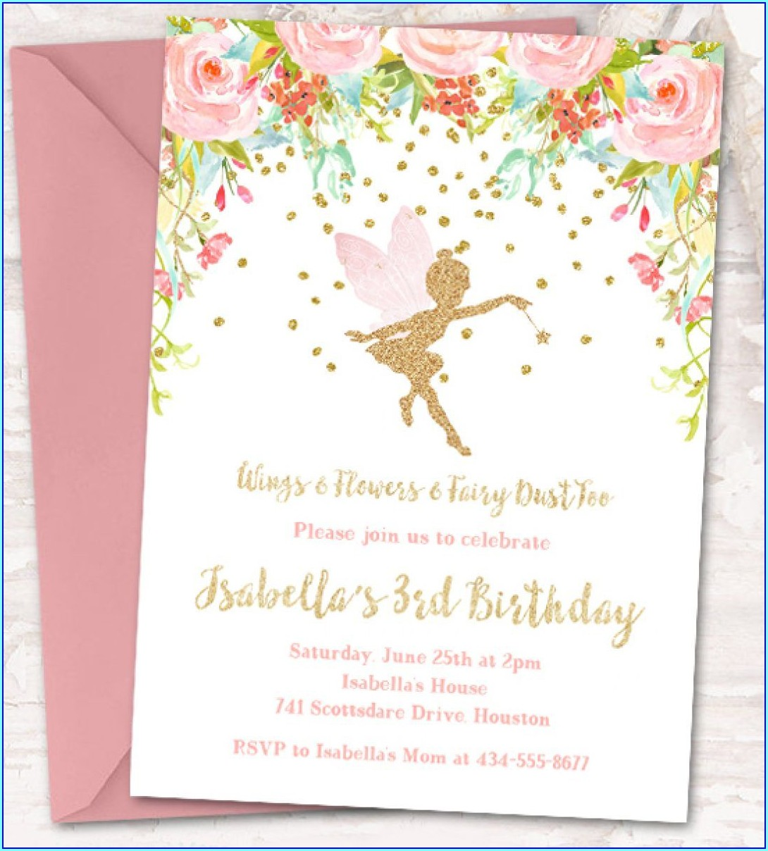 Blank Fairytale Invitation Template Free