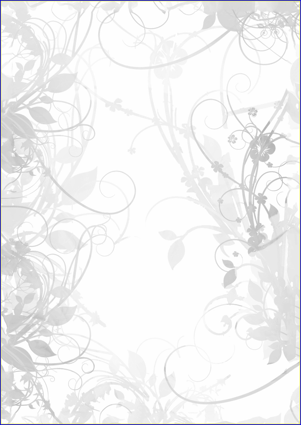 Blank Floral Invitation Template Free