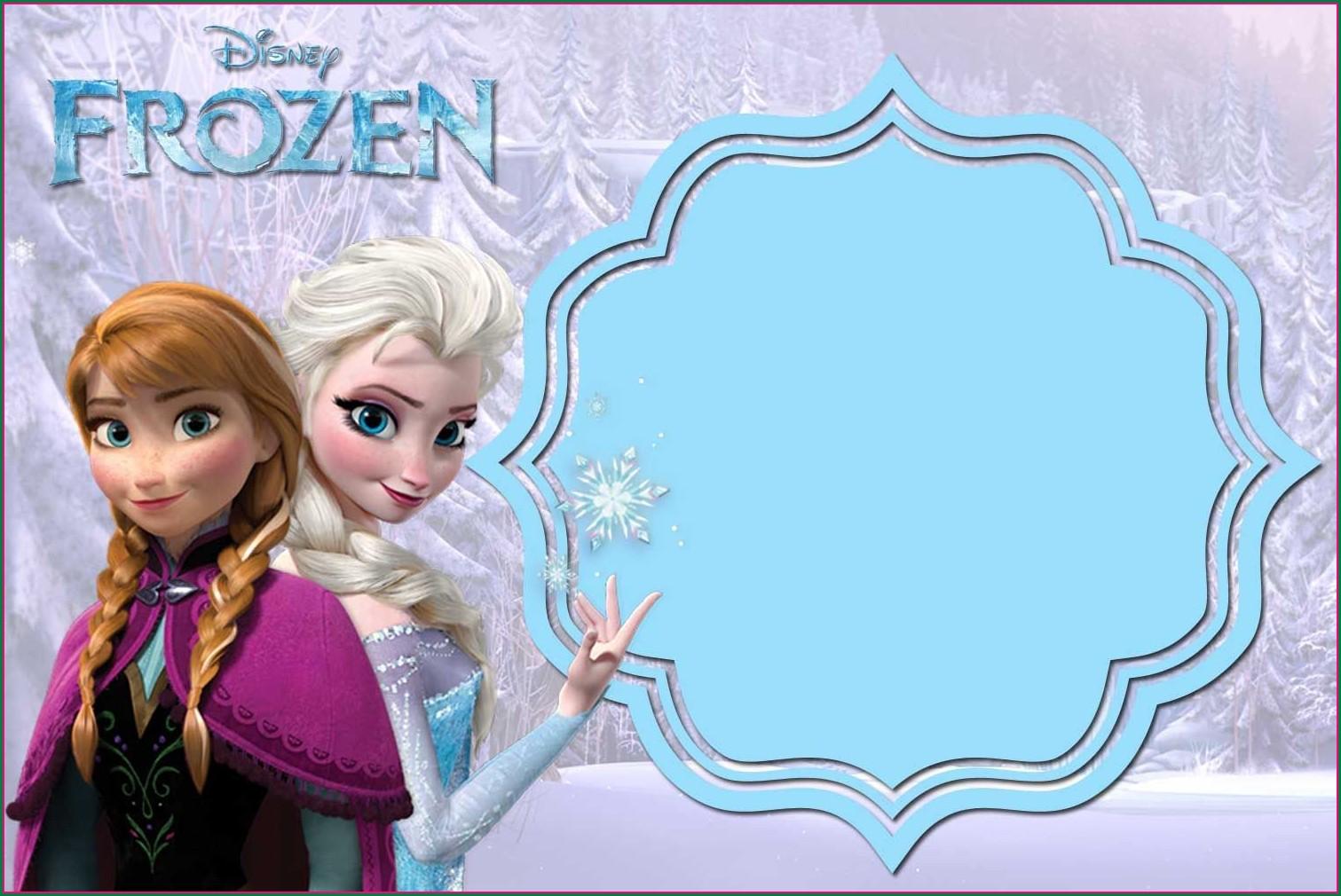 Blank Frozen 2 Invitation Template