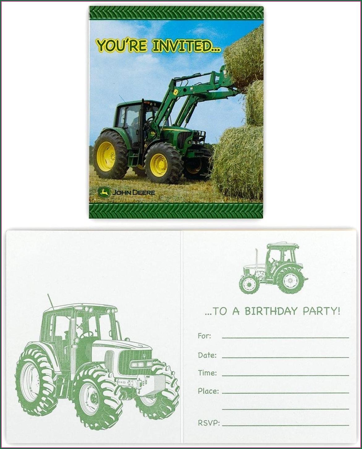 Blank John Deere Invitations