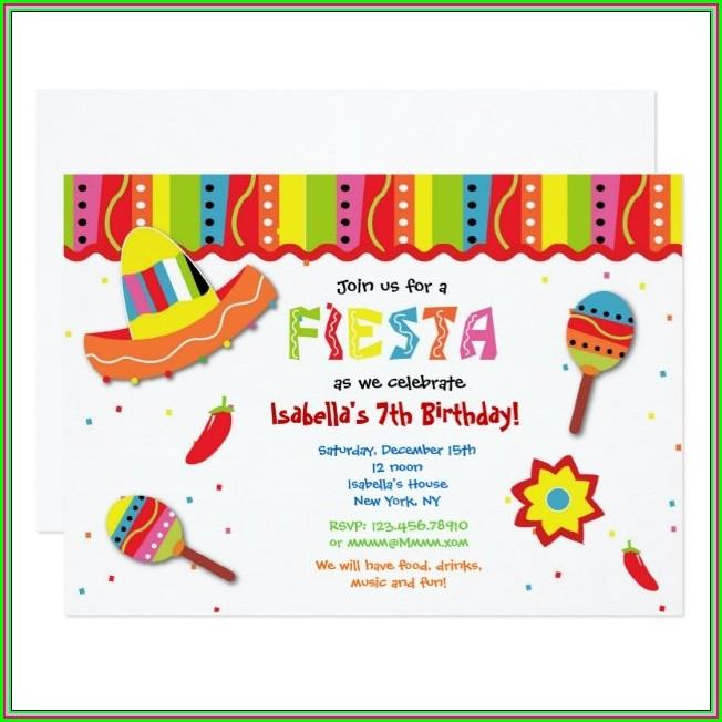 Blank Mexican Fiesta Invitations