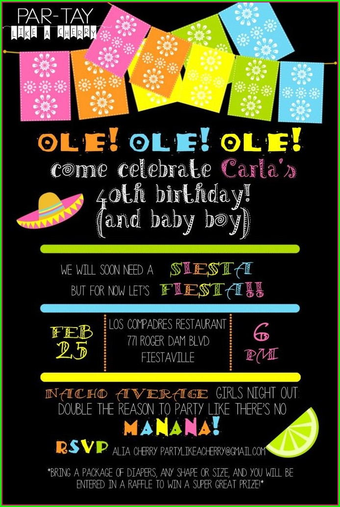 Blank Mexican Invitations Templates