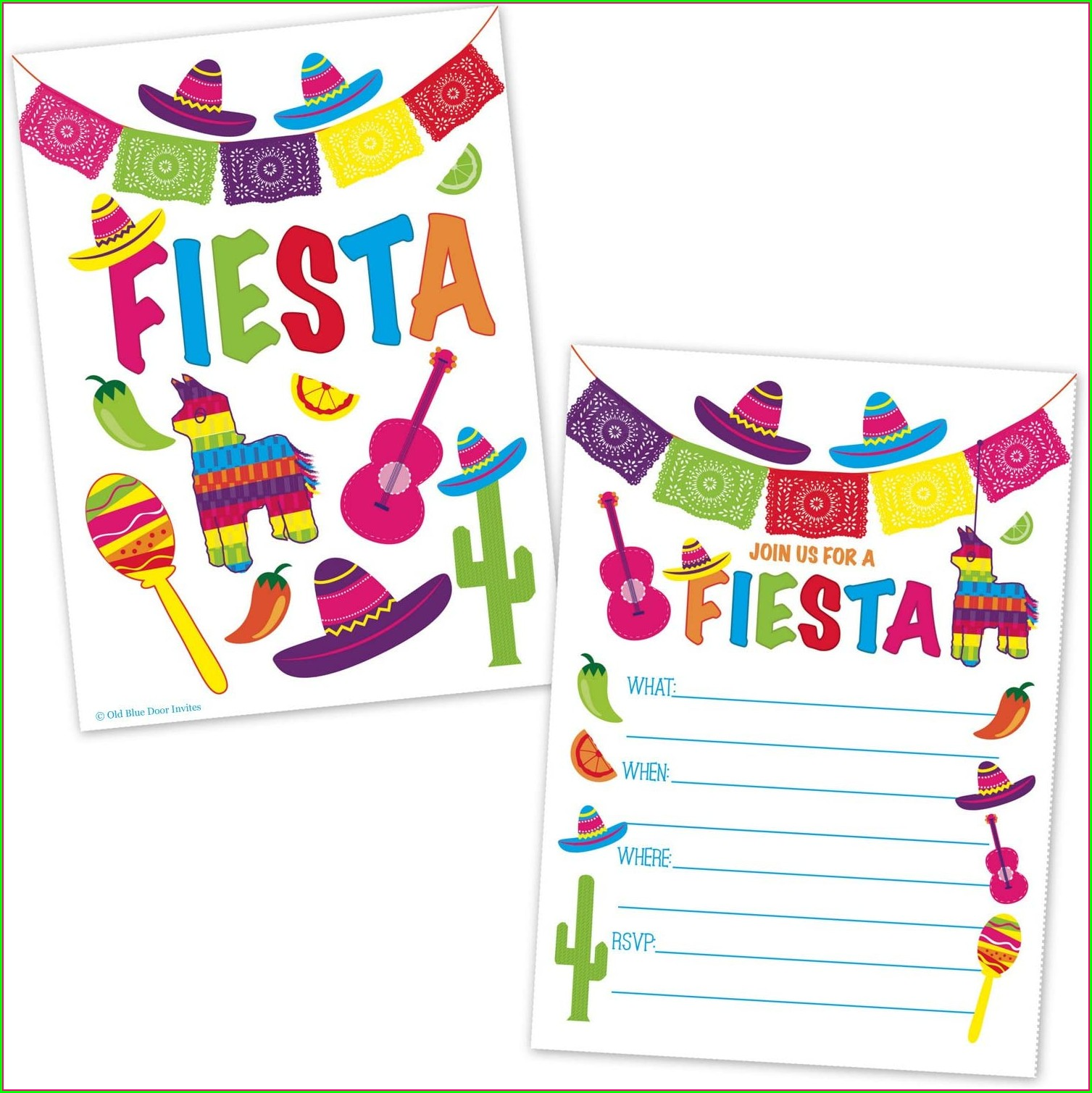 Blank Mexican Style Invitations