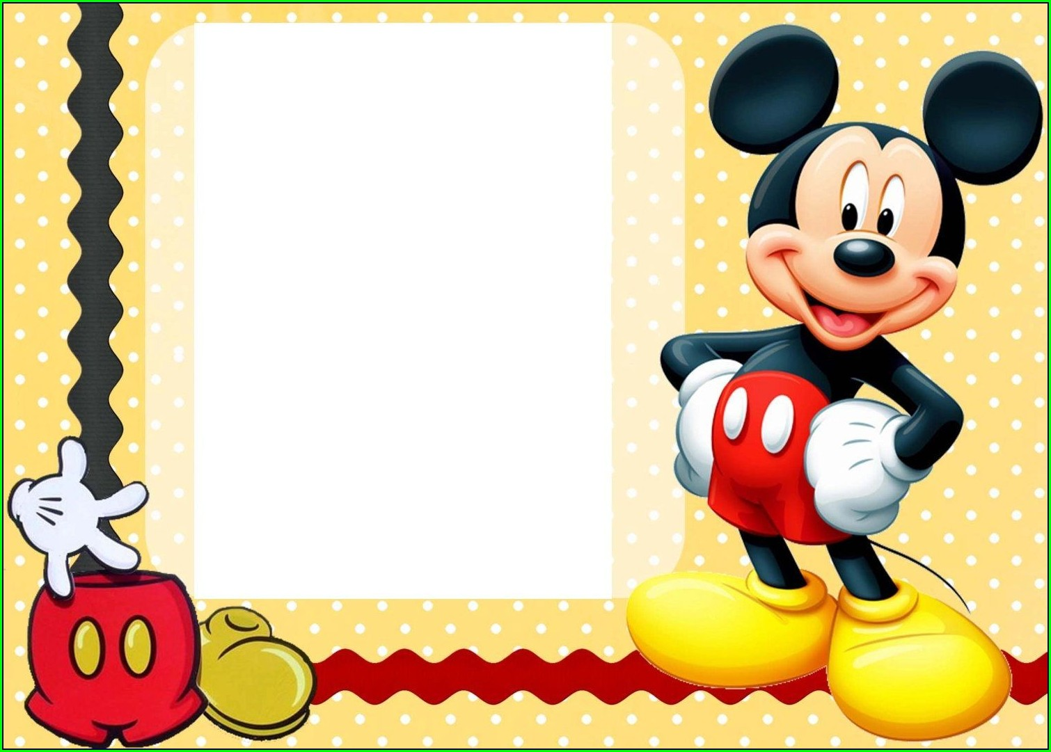 Blank Mickey Mouse Clubhouse Birthday Invitations
