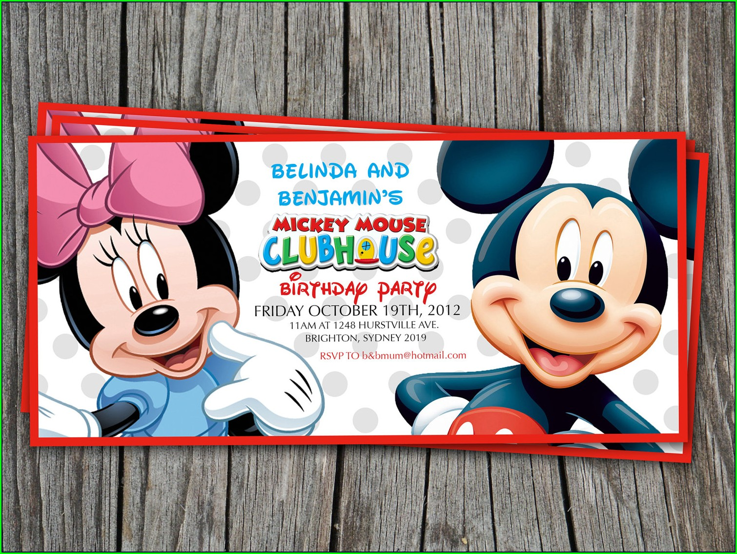 Blank Mickey Mouse Clubhouse Invitations