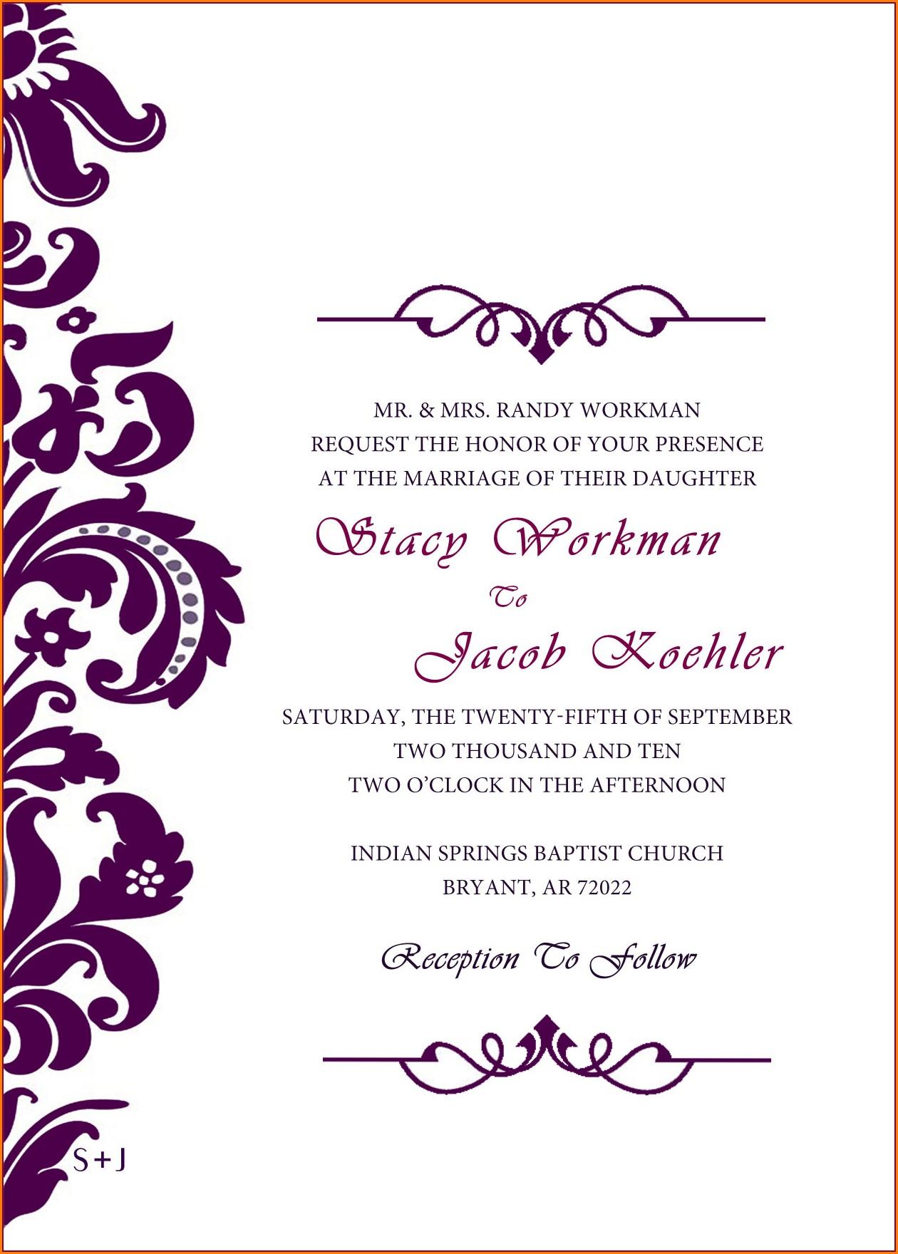 Blank Navy Blue Wedding Invitation Templates Free