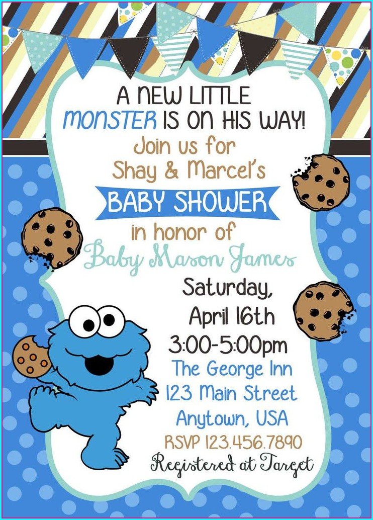 Blank Printable Blank Cookie Monster Invitations