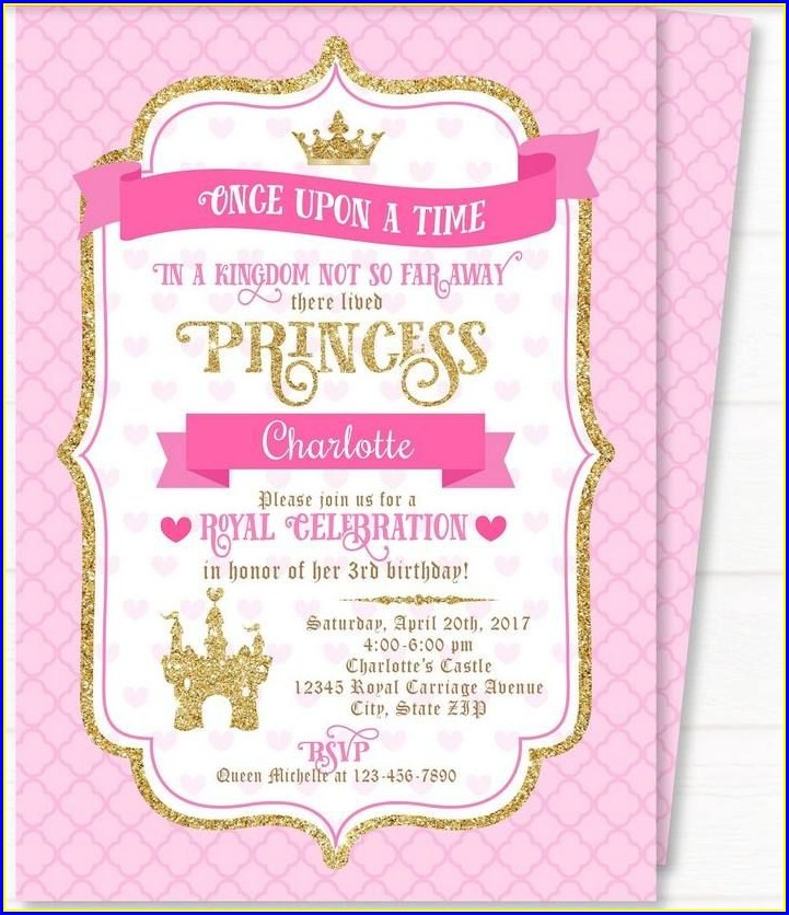 Blank Royal Princess Invitation Template